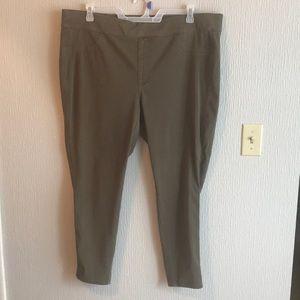 Venezia Olive Skinny Jeans Pants Sz 22